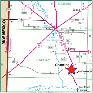 Map Of Xit Ranch Texas.Hartley County